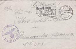 German Feldpost WW2: Infanterie Nachrichten Ersatz Kompanie 258 P/m Seestadt Rostock 2 H 21.1.1940 - Cover Only - Militaria