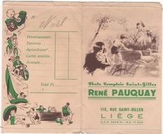 Ancienne Pochette De Photographie Pauquay Liege - Autres