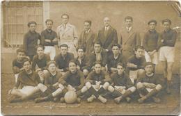 PLEAUX: Carte Photo : Equipe De Rugby 1928-1929 De L'Etudiant Club Pléaudien - France