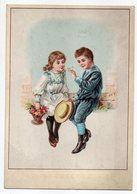 """Chromo--LILLE--""""Aux Soeurs De Charité""""--DELEMAR-VANDEWIELLE--enfants,chapeau Et Papillon - Autres"""