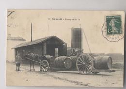 Île De Ré - TRANSPORT DU VIN - 1910 - Attelage & Barriques De Vin - Beau Plan - RARE - Imprimeries Réunies Choisy Le - Ile De Ré