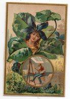 Image-- Langage Des Fleurs -- La Violette --Modestie --(peintre) - Vieux Papiers