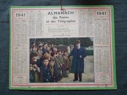 Almanach Des Postes 1941 - Souvenir Réfugiés Alsaciens-Lorrains En Dordogne - Strasbourg évacuation - Pétain - Propagand - Calendarios