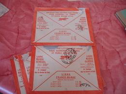 Lot De 5 Enveloppe Ligne Aerienne Maroc Algerie Poste Aerienne  Tarif Lettre - Morocco (1891-1956)
