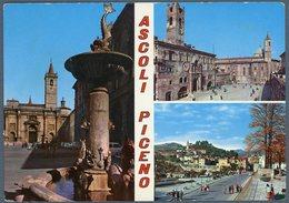 °°° Cartolina N. 30 Piazza Dell'arengo Vedutine Nuova °°° - Ascoli Piceno