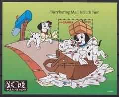 2459  -  The GAMBIA - Disney - 1997 - 101 Dalmatiërs ( Distributing Mail Is Such Fun ). - Disney
