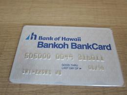 Bank Of Hawaii Invalided Bank Card - Hawaii