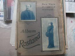 ALBUM ROSTAND /VERS EN MUSIQUE / ROSEMONDE GERARD/CHAMINADE /CUVILLIER /CHABRIER /POUJADE / - Noten & Partituren