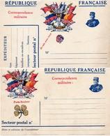 CL- Double( Réponse)- 7 Drapeaux- - Simili Joffre - Marcophilie (Lettres)