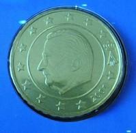 MONNAIE 10 Cent 2001 BELGIQUE Euro Fautée Non Cuivrée Etat Superbe - Variëteiten En Curiosa
