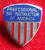 SKIING / SKI - PROFESSIONAL SKI INSTRUCTOR OF AMERICA - Enamel Badge / Pin - Winter Sports