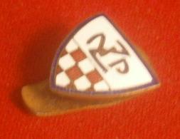 Pre WWII, Football Soccer Croatia, ZNP Zagreb Sub Federation Enamel Buttonhole Badge / Pin - Soccer
