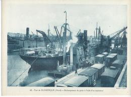 68 - PORT DE DUNKERQUE - DECHARGEMENT DU GRAIN A L'AIDE D'UN ASPIRATEUR  ( Animées ) - Dunkerque