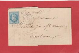 Aude - Chalabre - GC 837 Sur N°29 - LAC 1868 - Marcophilie (Lettres)