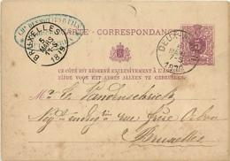 Belgique. CP 10  Deux-Acren > Bruxelles  1879 - Autres