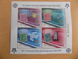 Bloc Feuillet Neuf Montenegro 2006 : Cinquantenaire Du Timbre Europa - Europa-CEPT
