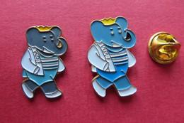 2 Pin's,Comics,Elephant,BABAR - Comics