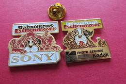 2 Pin's,Animaux,CHIEN,SONY,KODAK - Animaux