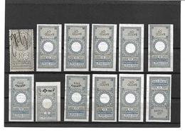 3096u: Lot Deutsche Zigaretten- Stempelmarken - Deutschland