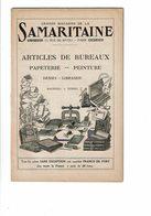 Catalogue De La SAMARITAINE Articles De Bureaux Papeterie Peinture Librarie Machines à écrire Stylos 1914 - Basteln
