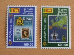 Série 2 Timbres Neuf Sri Lanka 2006 : Cinquantenaire Du Timbre Europa - Europa-CEPT