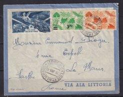 COTE DES SOMALIS - Lettre Par Avion De Djibouti Pour Le Mans Du 13 Janvier 48 - Lettres & Documents