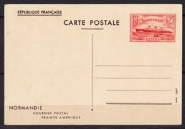 FRANCE - Paquebot Normandie  TB - Postal Stamped Stationery