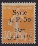 SYRIE - 1, P. 50 Sur 30 C. Orange Neuf Signé G. Reine TB - Syria (1919-1945)