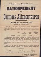 Affiche Rationnement 1945 - Plakate