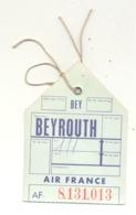 Air France - Ticket De Bagage - Vol Pour BEYROUTH ( Liban) - Douanes Libanaises  (fr81) - Titres De Transport