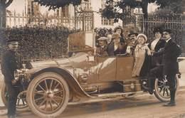 CPA Photographie -En Automobile - Voitures De Tourisme