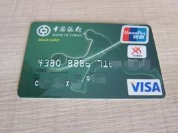 Bank Of China Invalided VISA Card,Tennis, Gold Card - Krediet Kaarten (vervaldatum Min. 10 Jaar)