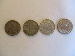 Guatemala: 4 X 5 Centavos 1945. 1956. 1957 & 1958 (argento) - Guatemala