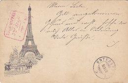 La Tour Eiffel 1889 Avec Oblit.du 3ème étage          (190702) - Tour Eiffel