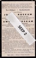 W.O.1 DP Jozef (Nederbrakel 1882) En Amedée (Nederbrakel 1894) ROSKAM - Broers, Gesneuveld Aan Den Yzer In 1915 - Religion & Esotérisme