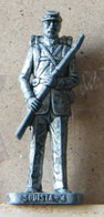 MONDOSORPRESA, (SLDN°34) KINDER FERRERO, SOLDATINI IN METALLO SUDISTA 1862, RP1482 40MM - Figurines En Métal