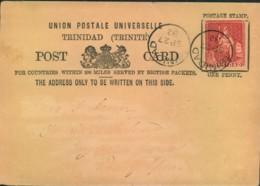 TRINIDAD 1887, Postcard - Seescan - Timbres