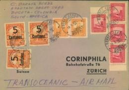 COLUMBIA, Transatlantic Airmail 1957 - Seescan - Non Classificati