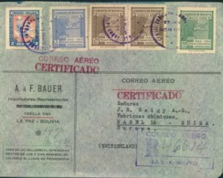 1946, BOLVIA, Registered Letter To Basel - See Scan - Non Classificati
