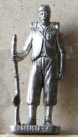 MONDOSORPRESA, (SLDN°35) KINDER FERRERO, SOLDATINI IN METALLO NORDISTA 1861 - RP  1482 40 MM - Figurine In Metallo
