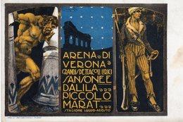 Verona (Italy) - Arena Di Verona Grandi Spettacoli Lirici - Sansone E Dalila - Il Piccolo Marat (diretto Da Mascagni)- - Opera