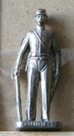 MONDOSORPRESA, (SLDN°37) KINDER FERRERO, SOLDATINI IN METALLO NORDISTA 1861 - RP  1482 40 MM - Figurine In Metallo