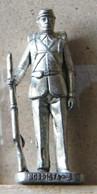 MONDOSORPRESA, (SLDN°39) KINDER FERRERO, SOLDATINI IN METALLO NORDISTA 1861 - RP  1482 40 MM - Figurines En Métal