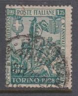 Italy S 236 1928 Philibert Of Savoia 400th Birth Anniversary, 1,75 Lira Green, Used - Used