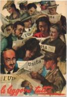 Cartolina Pubblicitaria Giornale L'Unita, Lo Leggono Tutti. Non Viaggiata - Reclame