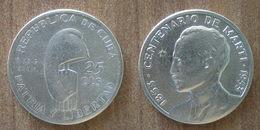 Cuba 25 Centavos 1853 1953 Commemo 100 Ans Marti Silver Argent Centavo Que Prix + Port Pesos Skrill Paypal Bitcoin - Cuba