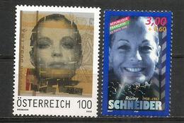 Romy Schneider, Actrice Autrichienne.  2 T-p Neufs ** Autriche + France - Acteurs