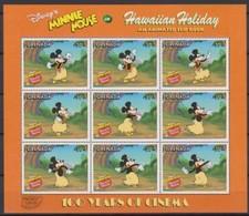 2504a  Walt Disney  Grenada  Minnie Mouse Hawaiian Holiday - 100 Years Of Cinema . - Grenade (1974-...)