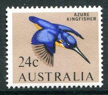 Australia 1966-73 Decimal Currency Definitives - 24c Azure Kingfisher MNH (SG 395) - Mint Stamps