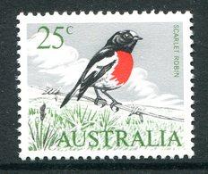 Australia 1966-73 Decimal Currency Definitives - 25c Scarlet Robin HM (SG 396) - Mint Stamps